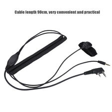 Walkie Talkie K-Plug Bluetooth Helmet Headset Cable for Kenwood Baofeng Radio