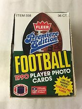 1990 Fleer NFL Football Cards - Retail Box w/ 36 Packs (15 Cards Per Pack)