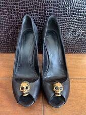 Alexander McQueen Skull Peep-Toe Pumps 37