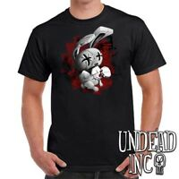 JTHM Nailbunny - Johnny the Homicidal Maniac - Mens T Shirt BLACK GREY