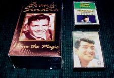 FRANK SINATRA - Relive the Magic VHS Boxed Set & 2 Cassette Tapes DEAN MARTIN