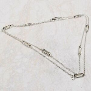 """White Topaz Ethnic Handmade 32"""" TO 36"""" Necklace Jewelry 10 Gms AN 84378"""