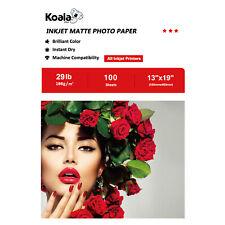 Koala 100 Sheet 13x19 Premium Matte Inkjet Printer Photo Paper Poster HP EPN A3+