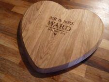 Personnalisé 5th anniversaire de mariage en forme de cœur de chêne à découper planche