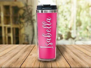 Colorful Travel Mug - Personalized Travel Mug w/ Your Name | Custom Gift Ideas