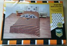 New Genuine NRL Wests Tigers Reversable Single Quilt Cover set Duvet Doona