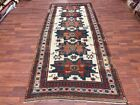 Antique beige Field star design  Kazak Caucasian rug-4819