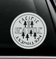 Seattle PNW Vinyl Decal car bumper sticker window laptop 6 colors  stamp style