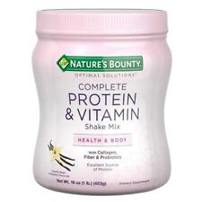 Nature's Bounty Optimal Solutions Protein Powder and Vitamin Supplement, Vanilla