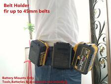 5Pcs Black Battery Mounts Holders for Dewalt 18v 20v 54v 60v Power Tool Battery