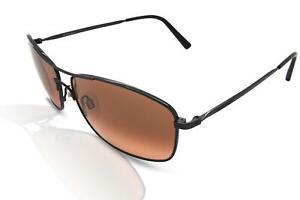 Serengeti 8694 Corleone Men's Sunglasses Dark Gun Metal/Brown