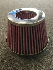 """Chrome 5"""" Inlet Cone Air Intake Filter 5.5"""" tall 7"""" base 4.75"""" top Truck MAF"""