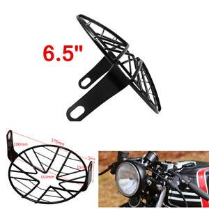 16cm Mesh Grille Motorcycle Motorbike Metal Side Mount Headlight Lamp Cover