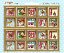 Ned kerstzegels vel 2010 postfris
