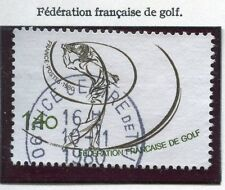 STAMP / TIMBRE FRANCE OBLITERE N° 2105 SPORT GOLF / Photo non contractuelle
