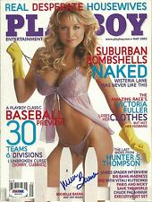 Michelle Baena Signed May 2005 Playboy Magazine PSA/DNA COA Auto'd Benchwarmers