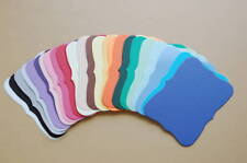 25 Sizzix Ornate Frame Journaling Mats- Assorted Cardstock Colors