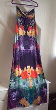 Lipsy Long Beach Party Holiday Evening Dress 10 Multicoloured
