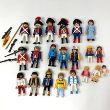Playmobil Figures 21 Guards Military Mom Dad Kids Baby Rafter Weapons Vintage