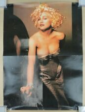 Vintage Madonna Poster 18x25 90s Sexy Low Cut Dress #1