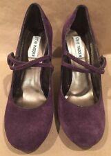 Dark Purple Suede P-Lanie Steve Madden Women's ShoesPumps High Heels Size 7 1/2