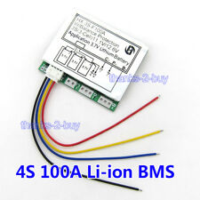 3S 100A 11.1V 12V Lithium 18650 Battery Cell BMS PCB Protection Board w/ Balance