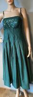 Monsoon silk Style Strappy Flared sequin Summer dress Det Straps U.K. 10 Exc
