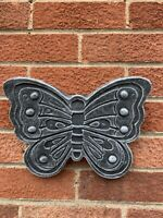STONE GARDEN DETAILED BUTTERFLY WALL HANGER HANGING PLAQUE ORNAMENT