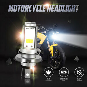 H4 9003 HB2 55W LED Motorcycle Headlight Bulb HID Hi/Low Beam 6000K High Power