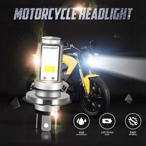 IRONWALLS H4 9003 HB2 LED Bulb Hi/Lo Beam 6000K White Motorcycle Headlight Power