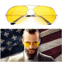 Game FARCRY5 Joseph Seed Cosplay Sunglasses Prop Eyewear Unisex Yellow Len Glass