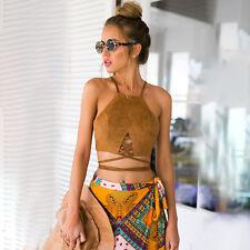 Summer Women Casual Tank Tops Bra Vest Blouse Sleeveless Crop Top Shirt Strappy