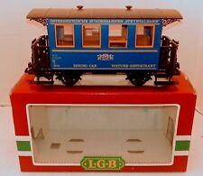 LGB 3013 Steyrtalbahn Railway Voiture-Restaurant Dining Car  G-Scale Used w/Box