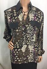 Mercedes & Adrienne Cache 1988 Design 100% Silk Blouse Womens Size 6