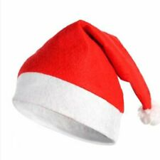 Up 5x Santa Hat Red And White Xmas Cap Adult Holiday Costume Headgear Party Gift
