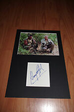 """GEORGE PEPPARD signed 8x12 inch autograph """"A-TEAM"""" matted InPerson RARE"""