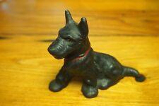 Vintage Metal Dog Figurine – Painted Scottish Terrier -