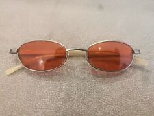 Jean Paul Gaultier JPG Vintage OVAL Sunglasses 58-0020 Gunmetal  Red Lenses