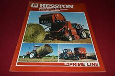 Hesston Round Baler Bale Mover Tilt Tub Processer For 85 Dealers Brochure YABE8