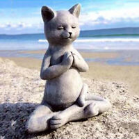 Harz Katze Figur Buddha Meditation Statue Wohnkultur Tabletop Skulptur