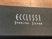 Ecclissi Ladies Genuine Sterling Silver Wristwatch #3240 Weight Is 52.3 grams