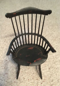 """Salesman Sample Size, 14"""" Tall Antique Windsor Wooden Chair, Very Nice, Unique"""
