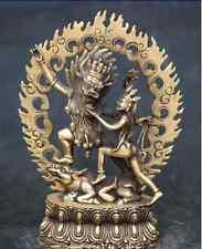 Chinese Rare Tibet Buddhism Bronze Yamantaka Buddha Protector Deity Statue  NR