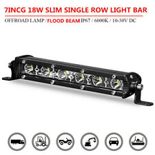 7inch 18W Slim LED Work Light Bar Single Row Flood Offraod SUV ATV 4WD Fog Drive