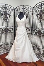 D342 CASABLANCA 1875 HALTER BEADED IVORY SZ 14   WEDDING BRIDAL GOWN DRESS