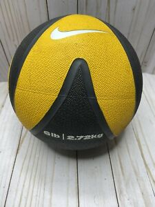 6lb Nike Medicine Ball Black & Yellow 2.72kg FE0027 701