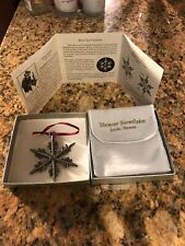 """Vermont """"Bentley Collection"""" Snowflake Christmas Ornament - 2011"""