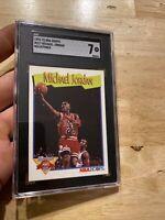 Michael Jordan SGC 7 Hoops 1991 #317 Last Dance Collector Card FIGHT INFLATION