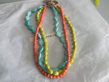 Premier Designs CITRUS blue green coral bead necklace RV $48 free shipping nwt