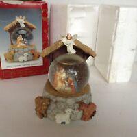 Nativity Scene Snow Globe Music Box Away In A Manger Christmas Decor Angel Anima